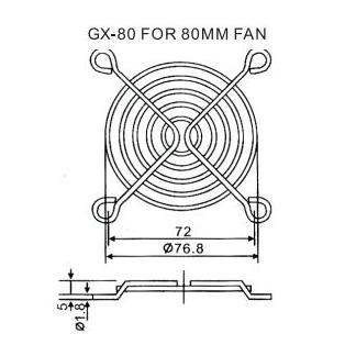 Lưới quạt hút GX-80