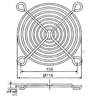 Lưới quạt hút GX-120