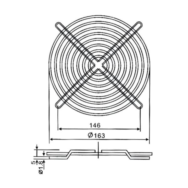 Lưới quạt hút GX-170