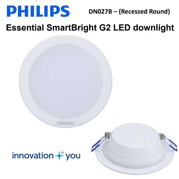 Đèn LED âm trần Philips DN027B LED6/NW D90 RD - 7W - 911401810097
