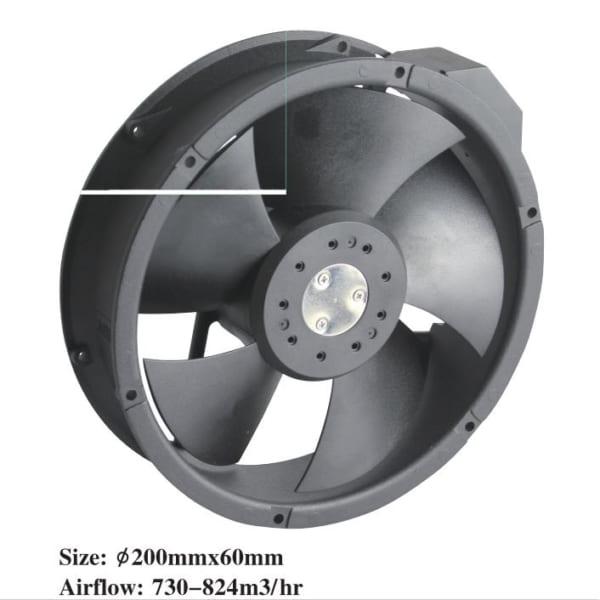 Quạt hút 200/240VAC 200X60 GN220F2C