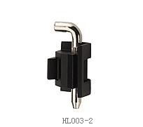Bản lề tủ điện (1 chốt nhỏ) mạ đen trơn HL003-2