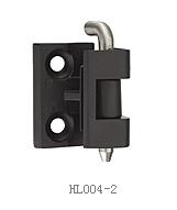 Bản lề tủ điện (2 chốt nhỏ) mạ đen trơn HL004-2