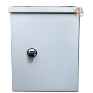 Vỏ tủ điện ngoài trời , sơn tĩnh điện , 01 lớp cửa - W:300 x H:400 x D:150 x T:1mm, khoá A19-1-1
