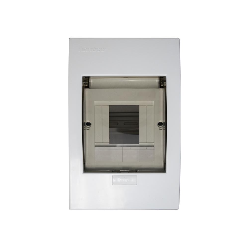 Tủ điện mặt nhựa đế kim loại 2 - 4 modules - NDP104