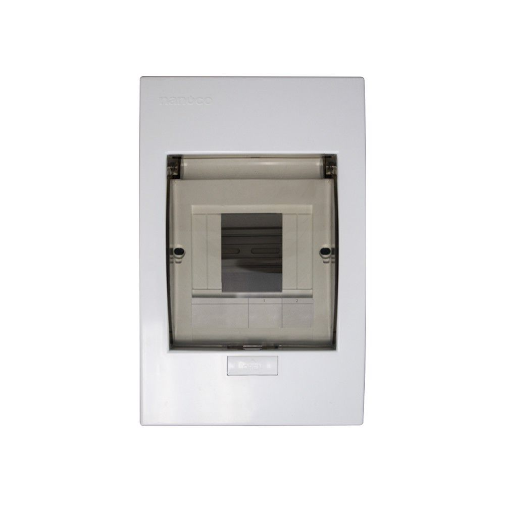 Tủ điện mặt nhựa đế kim loại 4 - 8 modules - NDP108