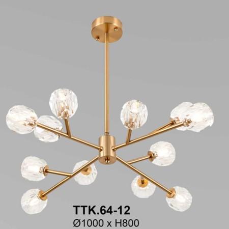 Đèn thả thiết kế nhánh cây 12 tay