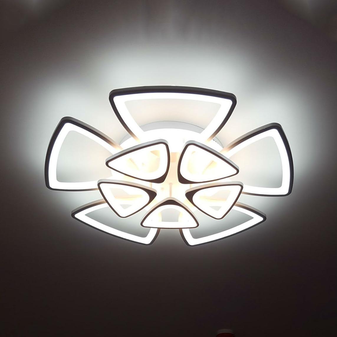HPL Đèn Ốp Trần MT-7166/6+6. Phi 800 x H150